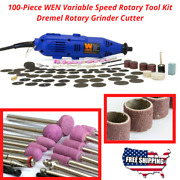 100-piece Variable Speed Rotary Tool Kit Dremel Rotary Grinder Cutter New