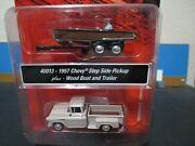 Ho Scale 1/87 Classic Metal Works 1957 Chevy Pickup Truck W/wood Speed Boat Cmw