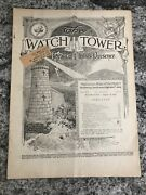 1923 Watchtower Magazine Jehovah Bible Students Ibsa August 15th Issue