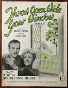 Webster Booth And Anne Ziegler Throw Open Wide Your Window By Ralph Stanley 1932
