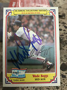 Wade Boggs 1984 Drakes Cakes Signed Boston Red Sox Baseball Autograph Hof