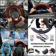 Small Ant Heated Steering Wheel Cover,2020 Upgraded 12v Heated Auto Steering