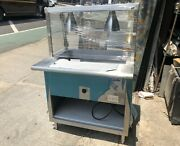 36andrdquo 3ft Steam Table Stainless Steel Electric 208 Volt 2 Pans W/ Sneeze Guard Nsf