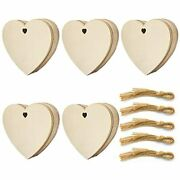 50 Pack Wooden Crafts To Paint Christmas Tree Hanging Ornaments Unfinished Diy