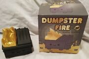 Kidrobot Exclusive 2020 Dumpster Fire Black And Gold Edition By 100 Soft