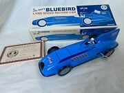 Schylling Bluebird Speed Record Car China Wind-up Blechspielzeug Tin Toy Boxed