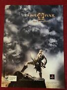 God Of War The End Begins Xbox Playstation 2006 Ad/poster Promo Art