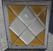Vintage Antique Window Yellow And Privacy Glass Diamond Shape We Ship