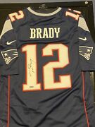 Tom Brady Autographed New England Patriots Jersey -tristar Full Letter And Holo