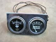 Working Vintage Dixco 4015-5-25 50 Amps And Rochester Engine Oil Pressure Gauge