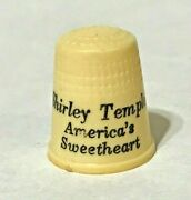 Vintage Shirly Temple Americanand039s Sweetheart Plastic Advertising Thimble Rare