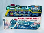 Kanto Toys Japan Piping Engine Express Train Tin Toy Battery Boxed Rare