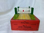 Hornby Trains No. 1 Level Crossing Gauge O Clockwork Tin Toy Boxed