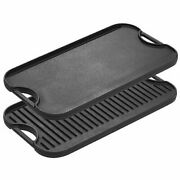 Lodge Pre-seasoned Cast Iron Reversible Grill/griddle With Handles, 20 Inch X 10