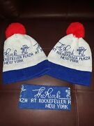 Vintage The Rink Rockefeller Plaza Beanie Winter Hats Head Band Ice Skating Nyc