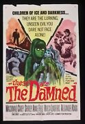 The Damned Columbia, 1965. Usa One Sheet Poster 27 X 41