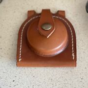 Hand Crafted Tan Leather Fob Watch Case