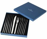 Villeroyand Boch 18/10 Stainless Steel 12pc 'gourmet' Steak Knife And Fork Set New