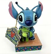 Jim Shore Disney Traditions Strange Life-forms Figurine Stitch Holding A Frog