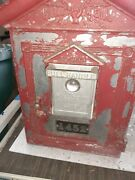 Vintage Gamewell Fire Alarm Pull Call Box 1452 From Newton Mass. No Key