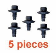 5 12mm 1.75 14mm Hex Drain Plugs W/ Inset Rubber Gaskets Rpl 21006725 24234212