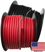 2 8 Gauge Wire 100 Ft Red And Black Primary Awg Automotive Stranded Copper Usa