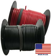 2 16 Gauge Wire 100 Ft Red And Black Primary Awg Automotive Stranded Copper Usa