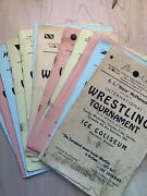 1930's And 1940's Wrestling Programs With 14 Autographs Jim Londos And Others
