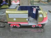 Antique Coin Operated Train Kiddie Ride Locomotive Vintage Freight Rough