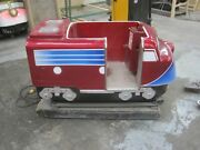 Antique Coin Operated Train Kiddie Ride Locomotive Vintage Freight Red