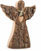 Wooden Angel Figurine, Rustic Angel Statue, Remembrance Gift, Angel Sculpture