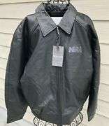 New 2021 Nra Xl Black Leather Jacket Burkand039s Bay Nwt