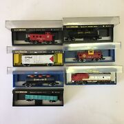 Bachmann N Scale Used Engine And Freight Car Caboose Lot Vtg A8