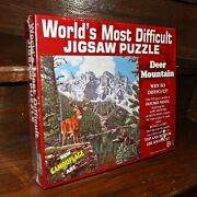 New Sealed Worldand039s Most Difficult Jigsaw Puzzle Deer Mountain 529pc Double Sided