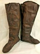 Antique Eastern Inuit Or Eskimo Tall Leather Hunting Mukluks Boots Prob. 1800s