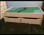 Large Train Table W/ 2 Trundle Drawers, Casters, Reversible Top Local Pu 94513