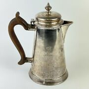 Antique George Ii Solid Silver Hot Water Jug London Made 1736 18cm