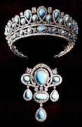 Vintage Reproduction Antique Turquoise Russian Tiara And Brooch1890 Turquoises