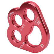 Rope 3hole Force Rigging Plate Anchor Divide Finger Force Climbing Set Red Wine