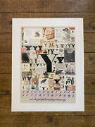 Peter Blake The Alphabet Series Y Colour Silkscreen Print Limited Edition Signed