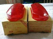 1950_ 1952 Dodge Tail Lights Lenses Pair Genuine New Glo Brite Left And Right 13