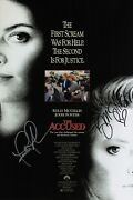Jodie Foster And Kelly Mcgillis Signed The Accused 10x15 Movie Poster Coa