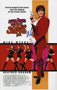 Heather Graham And Mike Myers Signed Austin Powers The Spy Who Shagged Me 11x17