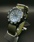 Luminox Styled Recon Seal Team Military Olive Green Nato Aidis Watch + Molle Bag
