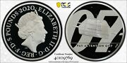 Great Britain 2020 Andpound5 2oz Silver Proof James Bond Pay Atention 007 Pcgs Pr70dcam