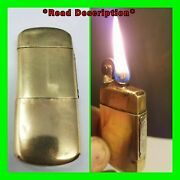 Antique Feudor Brass Military Trench Petrol Lighter W/ Tax Stamp Pre Wwii Workin