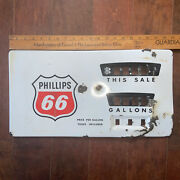 Vintage Heavy Metal Phillips 66 Gas Pump Panel Face About 20 By 10 1/2
