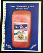 Dubuque Packing Company Canned Ham Rare Full-color Poster Print Vintage Meat Ad