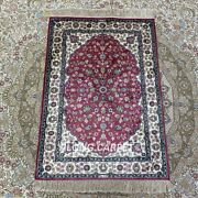 Yilong 2and039x3and039 Handmade Silk Rug Small Tapestry Antistatic Pink Carpet Hf144b