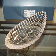 Villeroy And Boch 11 Lead Crystal Leaf-shaped Dish - 11-3782-0779 - Brand New